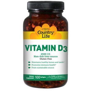 Country Life Vitamin D3 - 100 Softgels