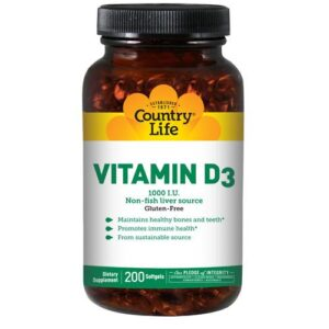 Country Life Vitamin D3 - 200 Softgels