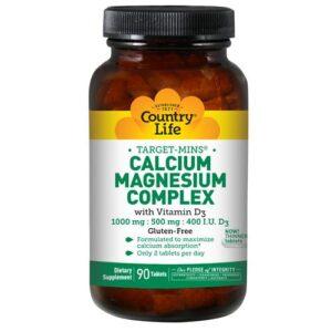 Country Life Calcium Magnesium Complex - Vitamin D3 90 Tabs