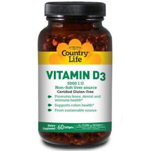 Country Life Vitamin D3 - 60 Softgels