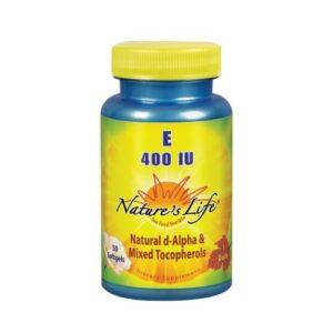 Nature's Life Vitamin E d-Alpha & Mixed Tocopherols - 50 softgels