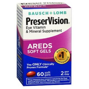 Bausch And Lomb Bausch And Lomb Preservision Eye Vitamin And Mineral Supplements With Areds - 60 sgels