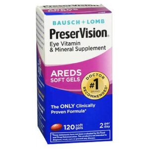 Bausch And Lomb Bausch And Lomb Preservision Eye Vitamin And Mineral Supplements With Areds - 120 sgels
