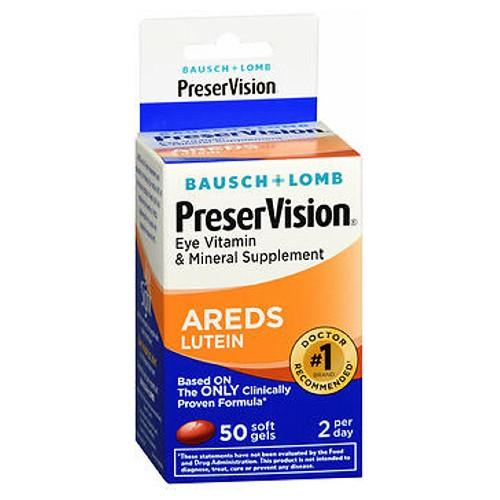 Bausch And Lomb Bausch And Lomb Preservision Eye Vitamin And Mineral Supplements Lutein Softgels - 50 sgels