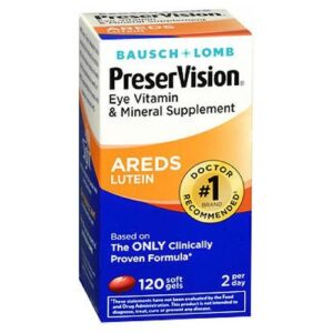 Bausch And Lomb Bausch And Lomb Preservision Eye Vitamin And Mineral Supplements Lutein Softgels - 120 sgels