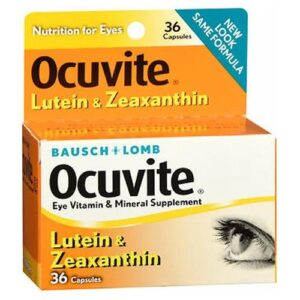 Bausch And Lomb Bausch And Lomb Ocuvite Lutein Eye Vitamin And Mineral Supplement Capsules - 36 caps